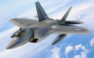 military raptor, jet, f-22, airplane, plane, fighter, flying, flight, aircraft, air force, aviation, defense
