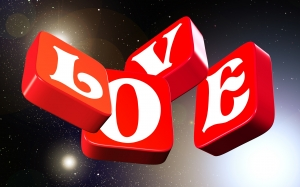 love, all, space, fly, 3d, star, font, red