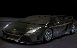 auto, lamborghini, gallardo, night, render, 3d