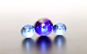 marbles, balls, garnish, abstract, reflection