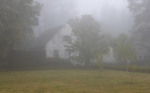 fog, mood, home, leave, mystical, gespentisch, lonely, rain