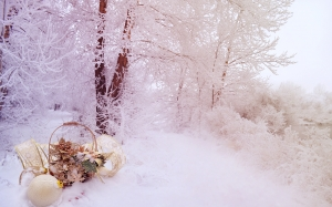 landscape, winter, snow, christmas, decoration