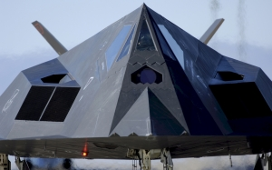 stealth, jet, f-117, nighthawk, aircraft, front view, military, technology, weapon, defense, air force, aviation