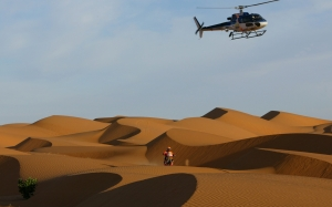rally, dakar, sports, sport, desert, sands, helicopter, motorcycle