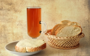 still life, bread, food, drink