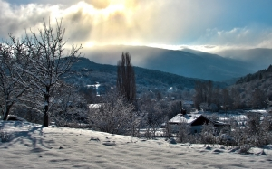 winter, snow, nature, mountains, landscape