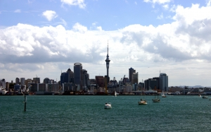new zealand, auckland, city, harbour, sea, bay, coast, coastline, skyscraper, skyline, downtown, highrise, cityscape, ocean, devonport, port