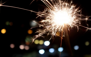 new year, sparkler