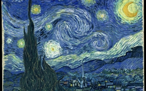 Vincent van Gogh, oil, canvas, painting, Starry Night