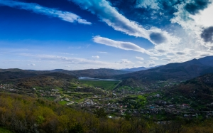 panoramic, country side, mountain, landscape