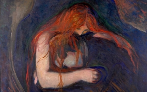 vampire, Edvard Munch, painting, expressionism