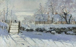 Oscar-Claude Monet, The Magpie, painting, impressionism