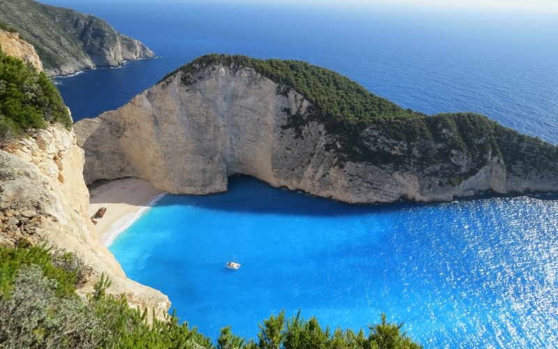 sea, bay, beach, Greece, sand, Corfu,