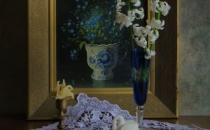 spring, hyacinths, picture, March, still life, still life with flowers, flowers