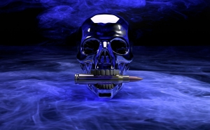 3d, skull, dark, death, computer graphics