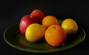 fruit, apple, vitamins, sweet, oranges, food