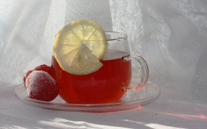 tasty, lemon, tea, hot, berry, drink