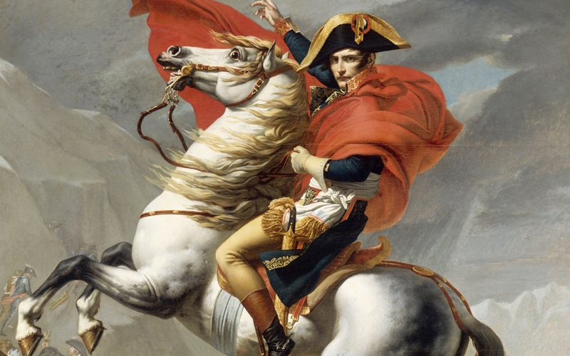 Bonaparte, Napoleon, Jacques-Louis David, painting