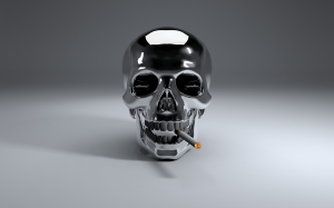 smoking, cigarette, tobacco, smoke, dead, skull, computer graphics, graphic, 3d