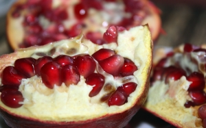 food, pomegranate, raft