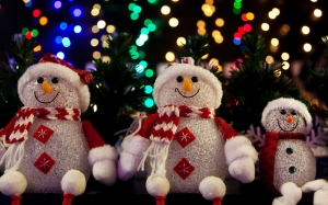 celebration, christmas, cute, december, decoration, happy, holiday, ice, scarf, season, snowman, symbol, winter, xmas, blurred, colorful, lights, dark