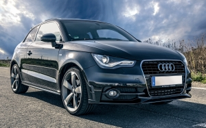 auto, audi, black, vehicles, sports car, blue, dark, dark blue, grey, road, front view, hood
