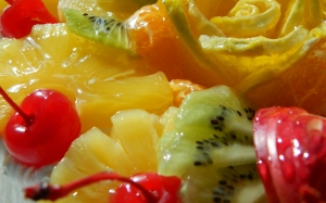 pineapple, orange, cherry, delicious, food, kiwi, mandarin orange, cake, fruit, dessert, food