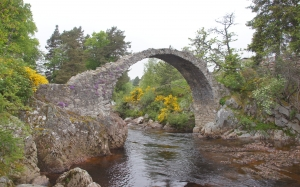 packhorsebridge, carrbridge, scotland, uk, river