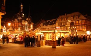 Wernigerode, Christmas, town, New Year, winter, night, evening, december