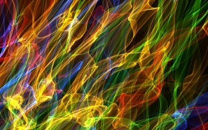 abstract, background, shapes, ribbon, thread, swirl, twirl, waves, electric, rainbow