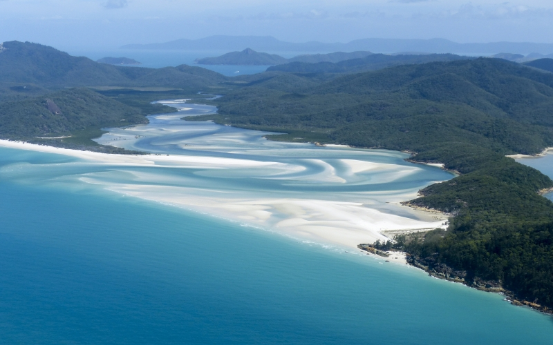 whitsunday island, great barrier reef, ocean, blue, water, landscape, bird view, australia, beach, reef, sea, island, queensland, holiday, vacation, travel, nature, tropical, tourism, paradise