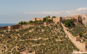 Spain, landscape, fortress, castle, history, mountain, nature