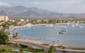 Juan Griego, bay, Fort La Galera, Isla Margarita, Venezuela, city, nature, landscape, sea shore