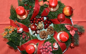 christmas, xmas, new year, holidays, wreath, decoration
