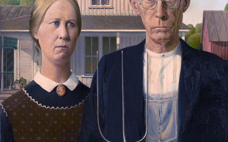 American Gothic, Grant DeVolson Wood, painting
