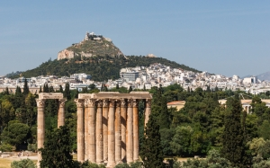 Temple of Olympian Zeus, Lycabettus hill, Royal Olympic, Athens, Greece