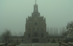city, country, countries, Tashkent, fog, Uzbekistan, temple, church, autumn, architecture
