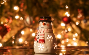 Christmas, Xmas, holidays, New Year, City, candle, snowman, lights