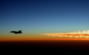 military jet, silhouette, sunset, flight, dusk, sky, navy, f-18, hornet, aircraft, airplane, plane, fighter, usa