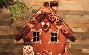 New year, Christmas, Xmas, holidays, food, gingerbread house