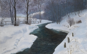 Richard Freiherr von Drasche-Wartinberg, In Deep Winter, winter, painting