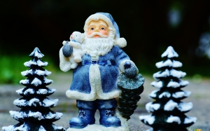 New year, Christmas, Xmas, holidays, Santa Claus, statuette