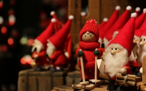 New year, Christmas, Xmas, holidays, christmas tree, gnomes, toys