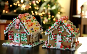 New year, Christmas, Xmas, holidays, food, baking, gingerbread, gingerbread house
