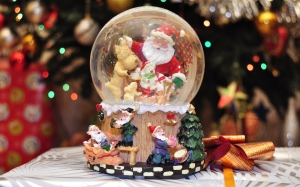 New year, Christmas, Xmas, holidays, snow globe