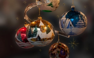 New year, Christmas, Xmas, holidays, ornaments, decorations