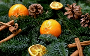 tangerines, fruit, frisch, christmas, decoration, xmas, new year