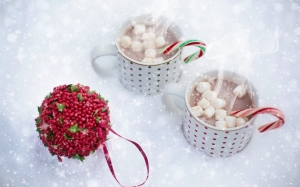 hot chocolate, snow, christmas, hot, drink, winter, chocolate, cocoa, xmas, cups, mugs, marshmallows