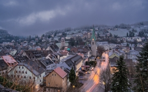 feldkirch, city, winter, snow, homes, snowy, cold, wintry, architecture, town