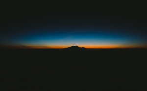meru west, tanzania, night, sunset, evening, dawn, stratovolcano, volcano